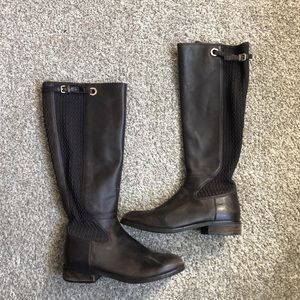 Cole Haan Chocolate Brown Leather Riding Boots